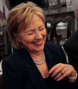 hillary-laughing-350