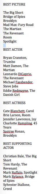 Oscar Nom 1