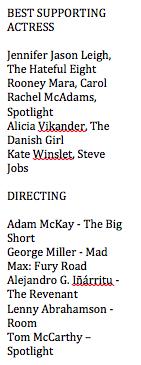 Oscar Nom 2